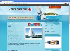 Conch Charters Website